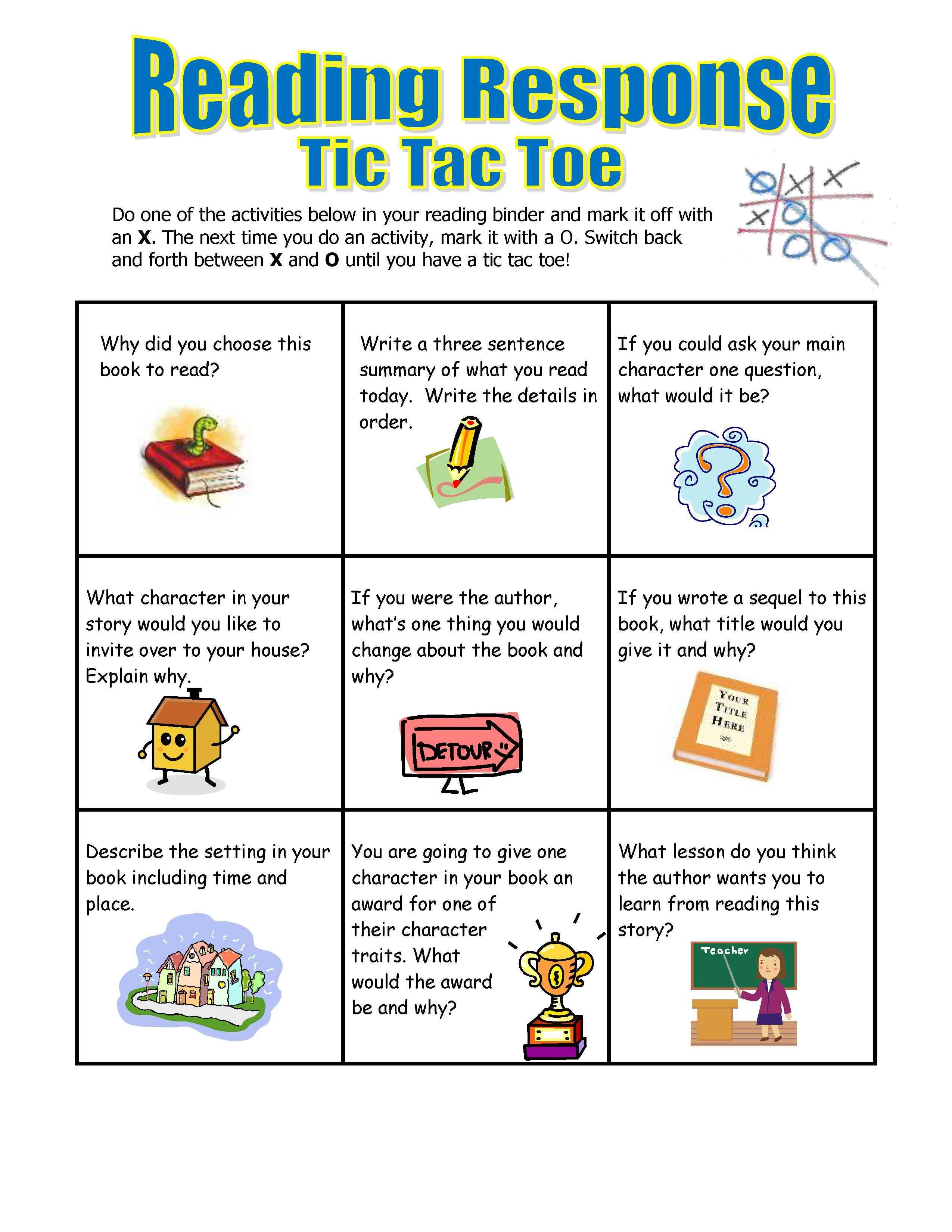 guided reading choice board template year 6