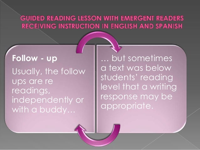 what students should be doing in each guided reading level