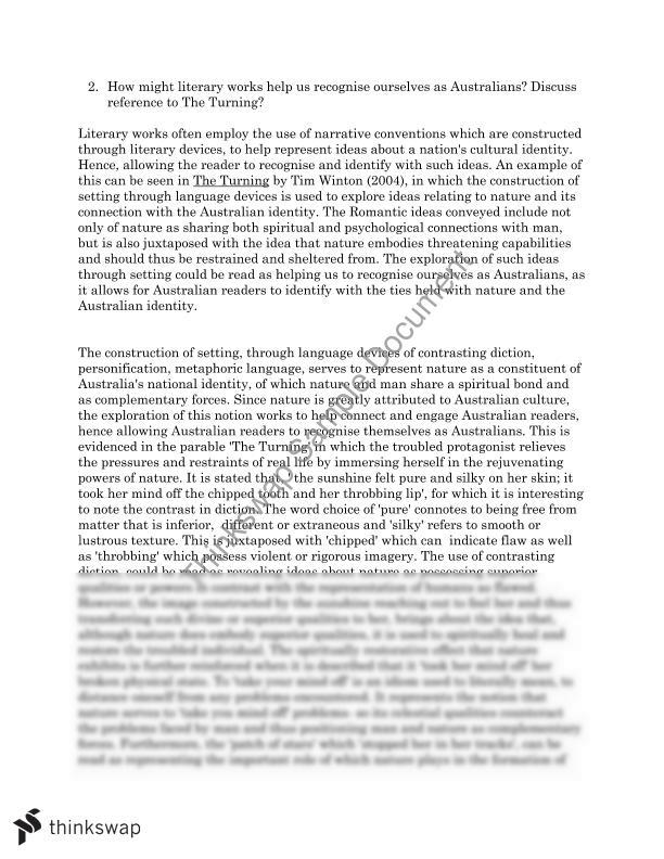 tim winton the turning study guide pdf